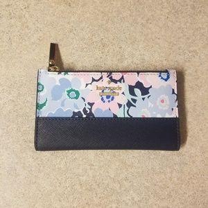 Kate spade floral print wallet